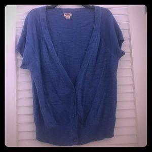 Lightweight short sleeved sweater cardigan